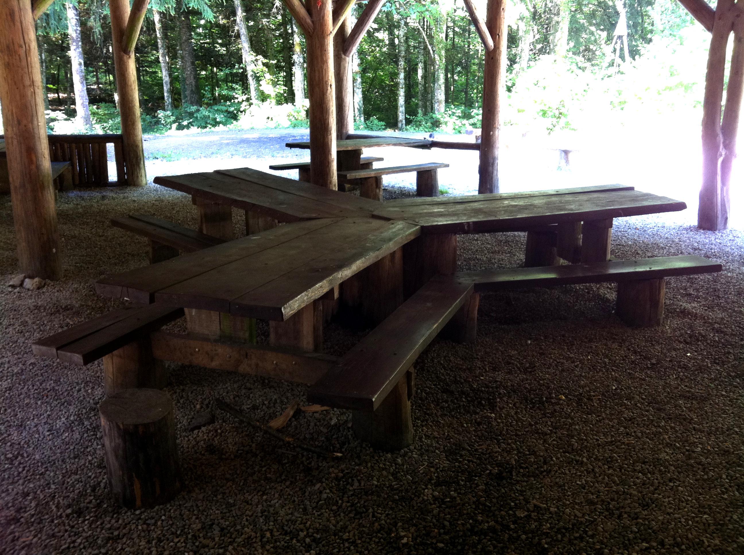 Anciennes tables de refuge à remplacer