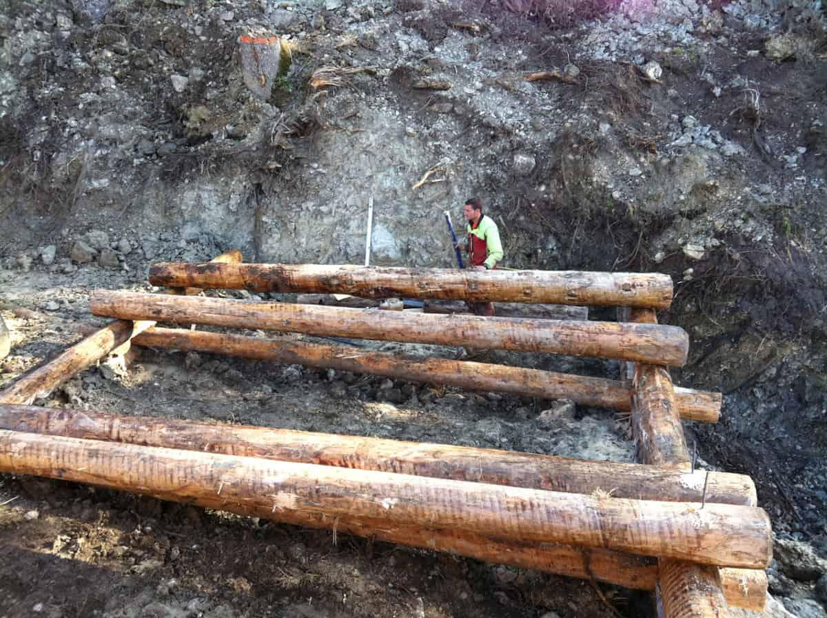 Les premiers bois sont posés